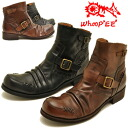 whoop ' from-de-doo ' フープディドゥ leather シャーリングブーツス strap boots an メンズドレープレザー short boots whoop ' EE ' Hooper mens leather boots ↓ PRICE DOWN ↓