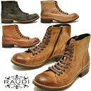 Chukka boots men's leather オイルヌ back short boots mens サイドジップ RAUDI Rudi MEN's BOOTS LEATHER * your order after 2-4 days after the delivery within.