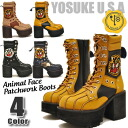 Now Duke becomes 5% off ★ thickness bottom boots lace-up boots thickness bottom boots アニマルフェイス patch camouflage YOSUKE U.S.A Yosuke shoes yosuke shoes Hara-Juku series fashion * after ordering 2-4 days after the delivery.