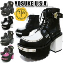 In the promise of the arrival report view special prices! Studded with thick bottom platform form boots lace-up short boots YOSUKE Yosuke lace-up boots ladies boots punk lolita