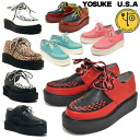 Thickness bottom rubber sole Yosuke ladies platform ★ as often as not in stock ★ KERA products Uncle shoe rubber-soled shoes Leopard YOSUKE U.S.A Yosuke