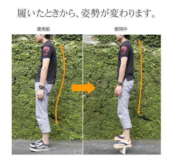 履いたときから、姿勢が変わります。