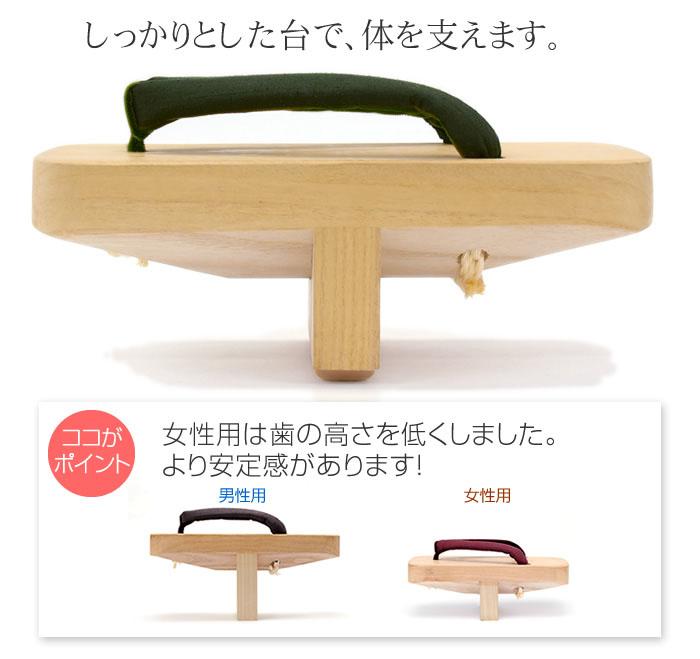 しっかりとした台で、体を支えます。