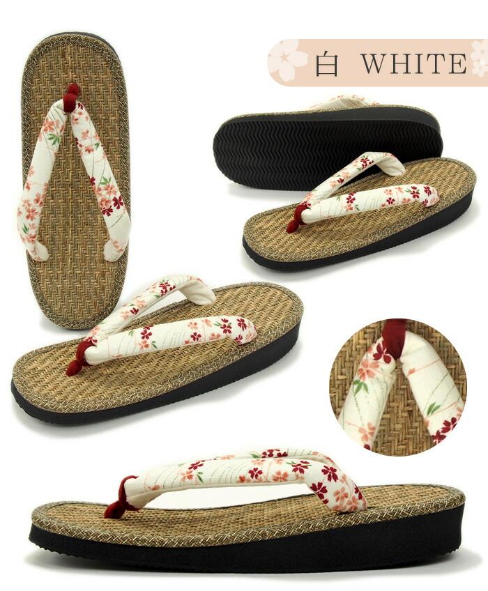 「パナマサンダル 流れ花 ころんと可愛い小判型(赤・紺・白)」kpw15 軽くて履きやすい!玄関履きや室内履きに