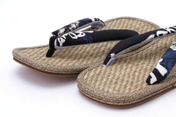 ひらいや original new Panama list leather-soled sandals