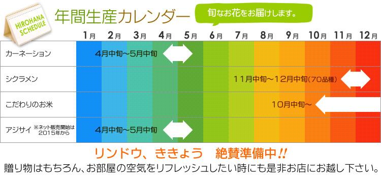 販売スケジュール(年間生産カレンダー)