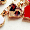 (one piece of bundling-limited of 99 yen product one) it becomes only the product of the first piece photograph that leopard pattern heart sends pretty necklace ※. (the chain head:) It is ★ _auktn02P20Sep14 more than 5,000 yen of 0267 approximately 40cm) ★ Lady's accessories pierced earrings four circle wedding ceremony dress parties