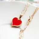 (one piece of bundling-limited of 99 yen product one) it becomes only the product of the first piece photograph that red heart sends pretty necklace ※. (the chain head:) It is ★ _auktn02P20Sep14 more than 5,000 yen of 0268 approximately 40cm) ★ Lady's accessories pierced earrings four circle wedding ceremony dress parties