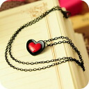 Cute Red Heart Necklace 0284 _auktn02P04Jul15 ★ ★ ladiesaxesalinecklace earrings natural stone formal wedding ドレスパーティータイムセールパワース tone, etc. over 5,000 yen
