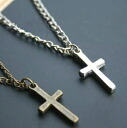 Simple cross (cross) necklace 0296 _auktn02P30May15 ★ ★ women's accessories earring natural stone formal wedding ドレスパーティータイムセールパワース tone, etc. more than 5,000 yen