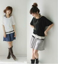 Bicolor shirt & tank top 2 piece set 0252 (50% off or more) ★ women's spring new ワンピースチュニックレギンス wedding dress party etc more than 5000 Yen ★ auktn_50off just 02P28oct13