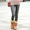 Length 10-Leopard pattern leggings pants 0340 ★ ladies spring new vampiristunicreggins wedding dress party, more than 5000 Yen ★ _auktn_50off leg pain 02P30Nov14