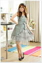 Gorgeous grey ☆ Premier muddle one-piece 0373 automatic combining ★ sleeve ladies spring new vampitunicleguipan wedding dress party, more than 5000 Yen ★ auktn_50off02P21Feb15