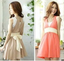 (Spring & summer new) クラシカルドレ one-piece 0477 (50% or more) of Brown and Red ★ Womens spring new ワンピースチュニックレギンス wedding party long and more than 5000 Yen ★ _auktn_50offT2P13oct13_b