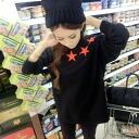 Cute red star stars black trainer 0600 _auktn_50off02P01Nov14 ★ ★ Womens spring new vampiristunic wedding party dress long sleeve, more than 5000 Yen