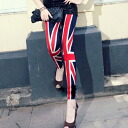 The Union Jack motif 9-minute-length leggings 0629 ★ denimlegginsladies spring new vampiristunicreggins wedding dress party, more than 5000 Yen ★ _auktn_50off leg pain 02P30Nov14