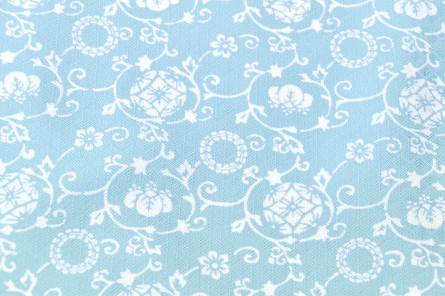 耐水洗衣服内衬和服碎花 monmokomon 面料日本聚酯 m 大小蓝色花纹