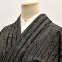 Oshima pongee used recycled silk mud dyed black pinstriped Mint sleeve 64.5 cm L size houmongi hh0563
