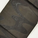 Nagoya Obi recycling used 9 inch pure silk nagoyaobi mourning for summer SAE black water designs hh1697