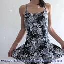 Swimsuit Lady's flower print one piece MONACO
