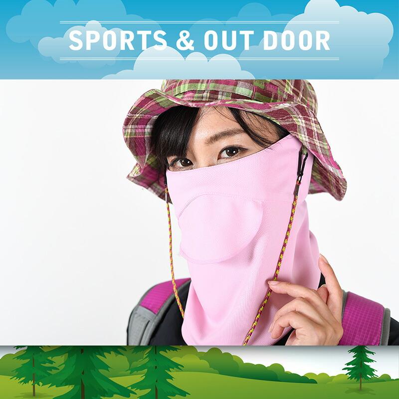 アウトドア登山ウォーキング用UVカットフェイスマスク