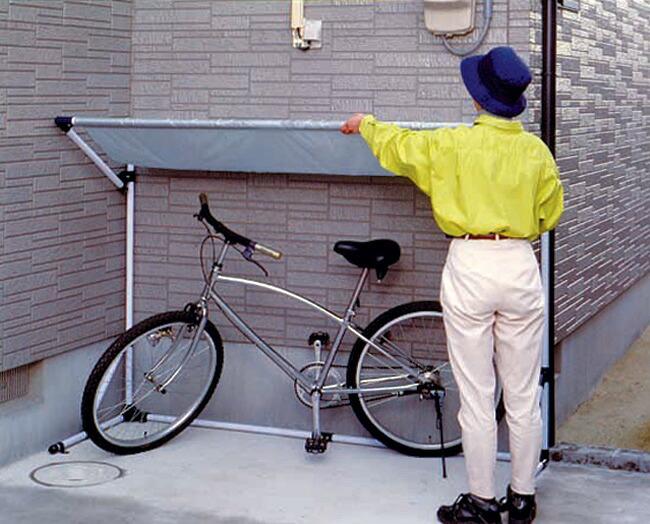 自転車屋 自転車屋根自作 : ... 屋根・自転車置き場・駐輪場