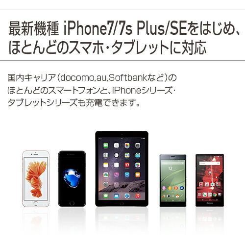 送料無料 モバイルバッテリー 大容量 モバイルバッテリー 10000mah 携帯充電器 iPhone7 Plus iPhone7Plus iPhone6s plus 6 5s 5 SE スマホ アイフォン7 プラス スマートフォン アンドロイド 持ち運び 急速充電 2.1A 急速充電 2台同時充電可