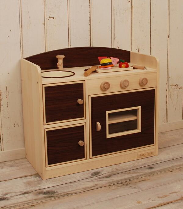 キッチン 木製キッチン : 市場】木製 ままごと キッチン ...