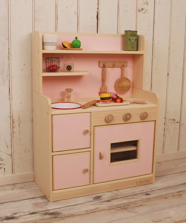 キッチン 木製キッチン : Handmade Wooden Toy Kitchen