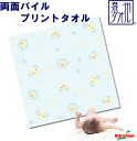 Double-sided pile, print towels, 100 cm x 100 cm-Japan ( kids / baby / baby / newborn / towel / sleeper / baby clothes / Super bargain/baby / gift/present )