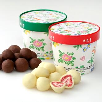 [六花亭] 草莓巧克力 (白巧克力/牛奶巧克力)