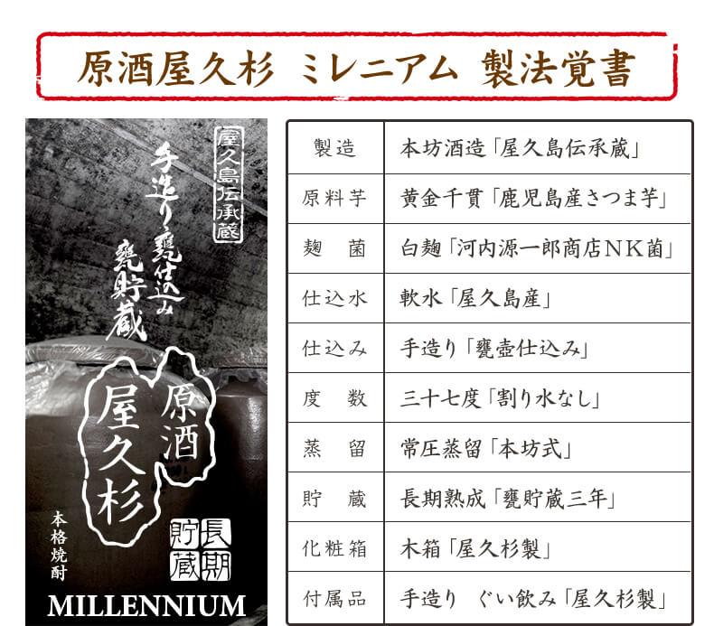原酒屋久杉ミレニアム製法覚書