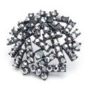 Big round stick black titanium pierced earrings (one pair of )auktn!)