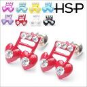 Heart musical notebook pierced earrings (one pair of )auktn!) fs2gm fs3gm