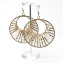 One pair of Asian circle type luxurious beads pierced earrings fs3gm