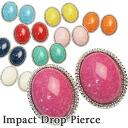 Impact drop pierced earrings (one pair)! P12Sep14