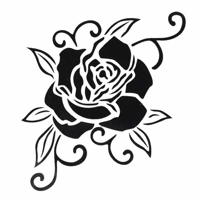 纹身封条黑色玫瑰!