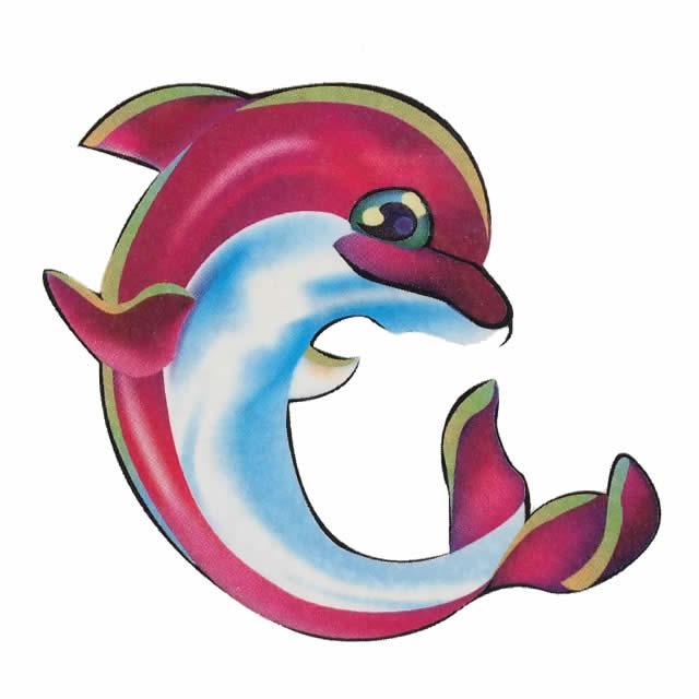 耳后纹身小海豚