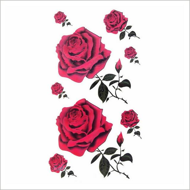 乐天海外销售: 红玫瑰纹身