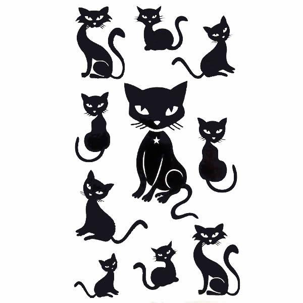 贴纸纹身猫图案分享展示