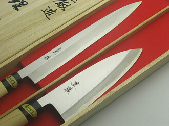 刀酒井茂勝將軍 Mukai 刀木件設置何刀 Deba 165 柳樹葉片刀 240 禮物禮品