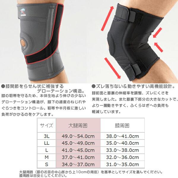 技术 [德旋转结构加固了膝盖螺旋] 生长的身体织物保护膝盖的韧带,de