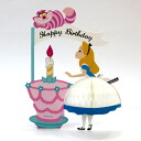I decorate the disneyhanikambirthday card Alice and Cheshire Cat hc-1000050283 honeycomb open 180 degrees! Your birthday greeting card APJ / solo exhibition 2011