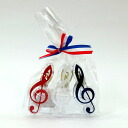 Tricolor G clef clip set blue, white, three colors of red set tl-57cs Nakano /NAKANO music フォ living /MUSIC FOR LIVING