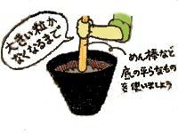 豆を潰します