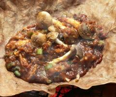 キノコの朴葉焼き