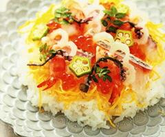魚介と野菜のちらし寿司