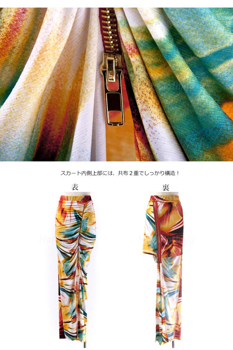 LAインポート★ジッパースリットロングスカート-ls-dc-sk014-f画像