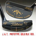 2 35 inches of ■ Scottie Cameron J.A.T. prototype gold / black version custom putters