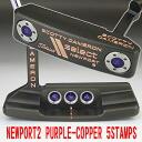 2 2 5 35 inches of ■ Scottie Cameron select Newport purple kappa stamp purple / white MID grip custom putters